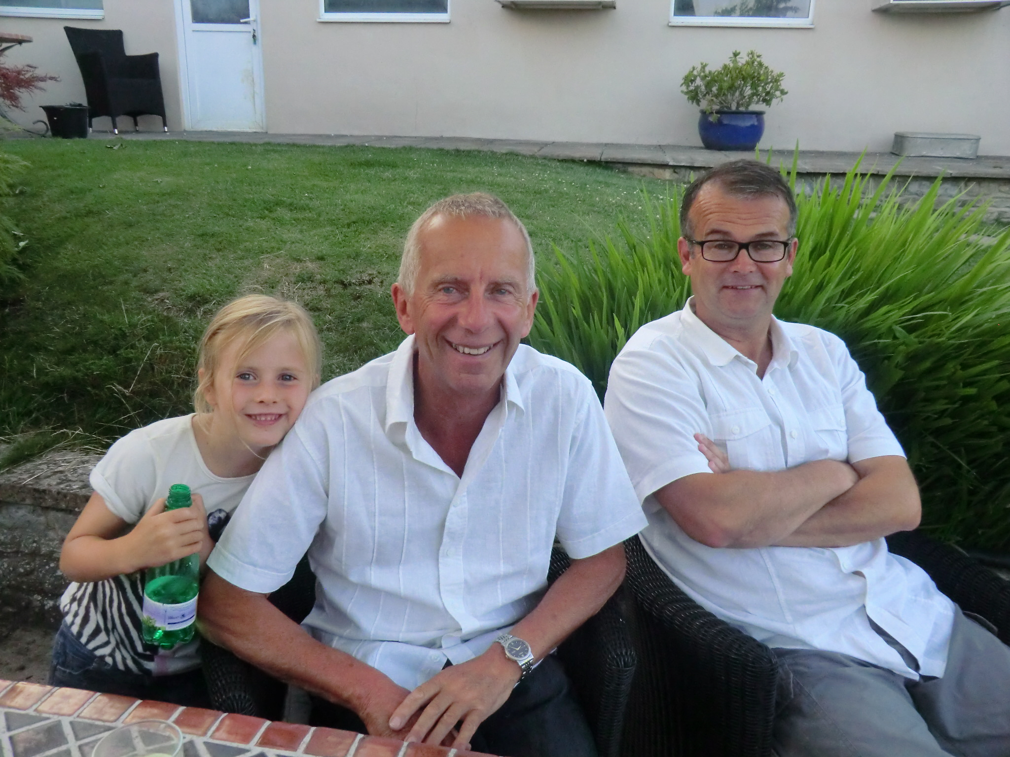Geoff, Rob Brooks and Fleur (G.Daughter)
