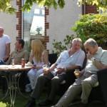 friends at our Pau garden party
