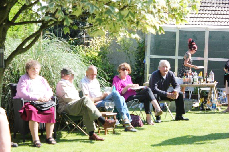 friends at our garden party