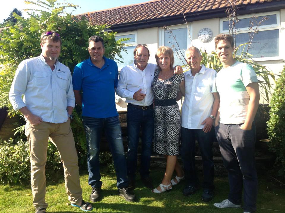 Pieter Olberholster, Mark Gilbert, Henk DeWeerd, Thomas Gyselbrecht and Geoff and Catherine